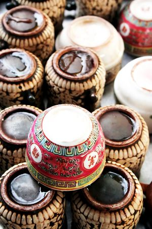 Chinese tea cups photo
