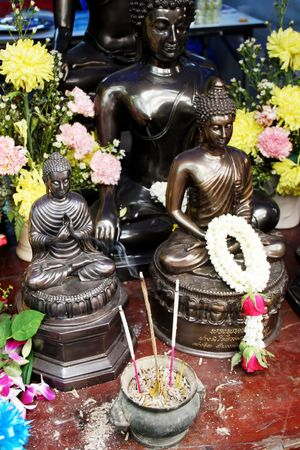 incense: Buddhist statues and incense from Thailand