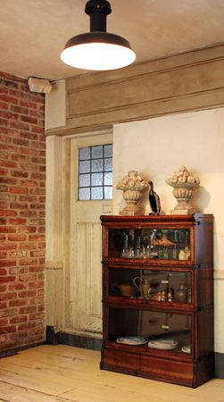 Old wooden cabinet in beautiful old home Stock Photo