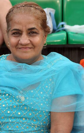 indian head: Indian woman Stock Photo