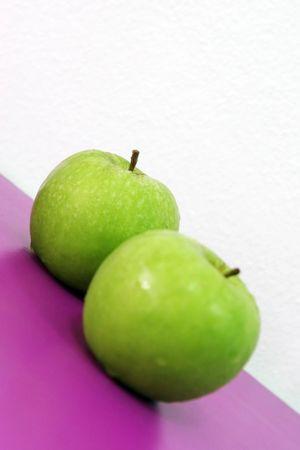 luscious: Luscious fresh fruit - green apples Stock Photo