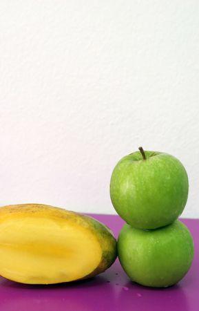 luscious: Luscious fresh fruit - green apples and mango