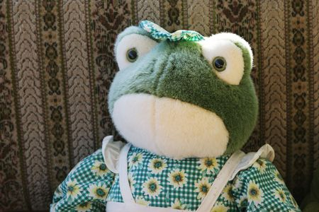 Stuffed frog toy Stock Photo - 599038