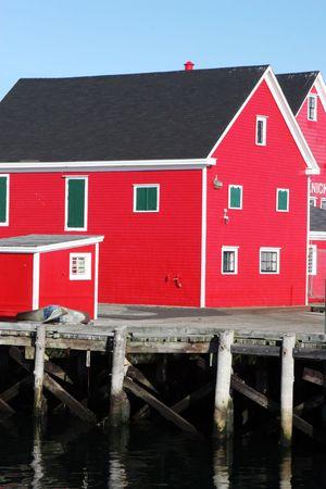 scotia: Buildings on the waterfront at Lunenburg, Nova Scotia, Canada Stock Photo