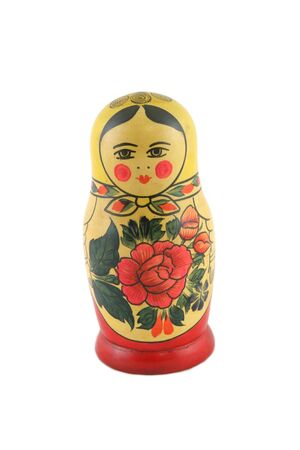 made in russia: Wooden doll made in Russia Stock Photo