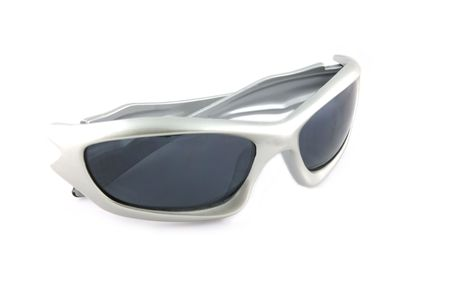sunnies: Dark sunglasses isolated Stock Photo
