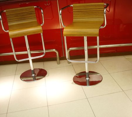 two chairs: Two chairs in a modern interior