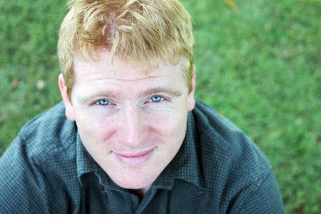 fair complexion: Portrait of a blond man with a fair complexion