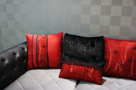 appealing attractive: Black and red modern sofa - home interiors
