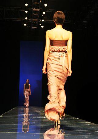 strut: Asian model on the catwalk