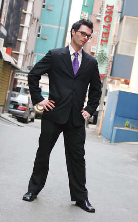 Successful businessman in a suit and tie photo
