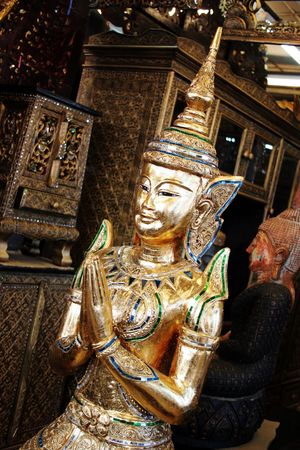 Gold Buddhist statue from Thailand Stock Photo - 898569
