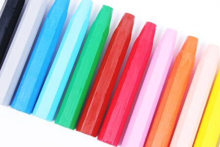 Close-up of a row of crayons Stock Photo - 911166