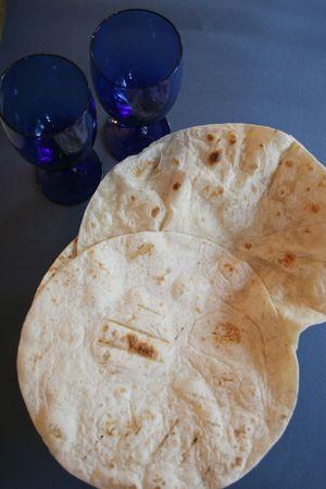 Nan pan recién salido del horno Foto de archivo - 1269485