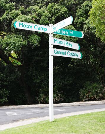 famous industries: New Zealand street signs - travel and tourism.