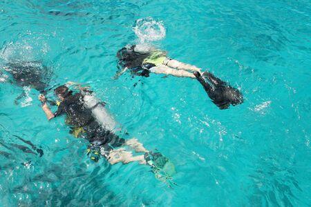 Scuba divers  Stock Photo - 3294182