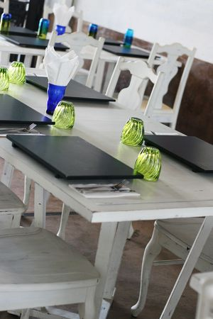 Table setting in an elegant restaurant. Stock Photo - 3311962