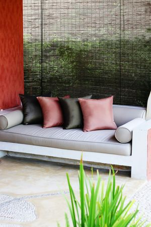 Sofa and cushions in a modern interior. Stock Photo - 3436966
