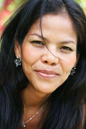 Happy Thai woman Stock Photo - 3568173