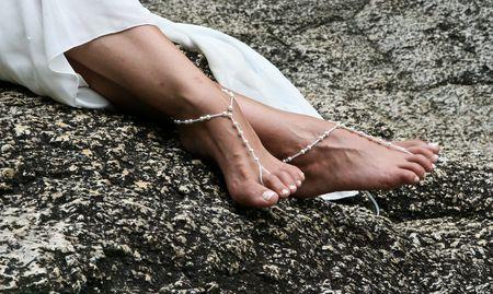 Brides feet photo