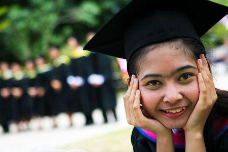 Asian university graduate photo