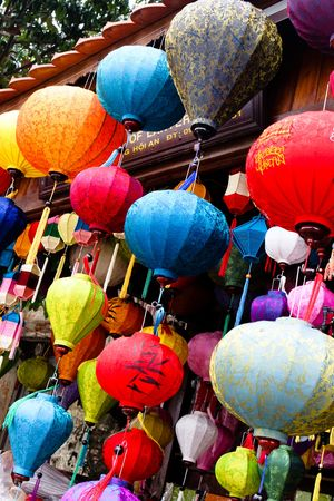 Traditional silk lanterns from Vietnam.