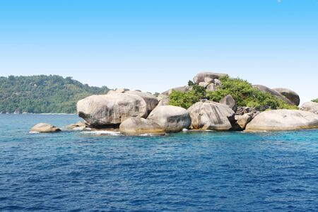 Rock formation at the Similan Islands in Thailand, one of the best dive sites in the world. photo