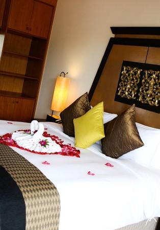 Interior of a honeymoon suite in Thailand. photo