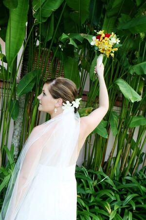 Beautiful brunette bride on her wedding day. Stock Photo - 4489069