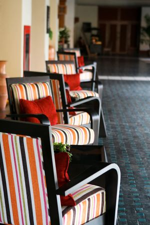 Interior of a modern hotel lobby - travel and tourism.