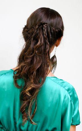braided hair: Fashion hairstyle - braided hair.