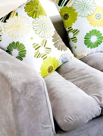 Sofa - modern home interiors. Stock Photo - 4570201