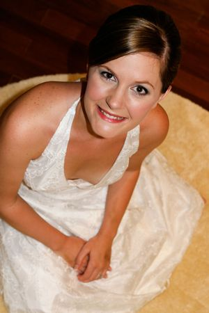 Portrait of a lovely bride on her wedding day. Stock Photo - 4658513