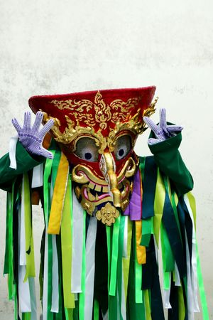Close-up image of a colorful handmade mask. Stock Photo - 4733566