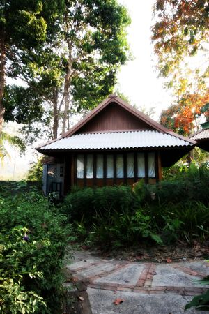 Exterior of a Thai bungalow - travel and tourism. photo