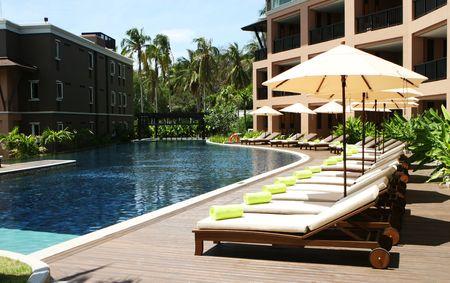 Luxury Swimmingpool eine tropische Resort Spa.
