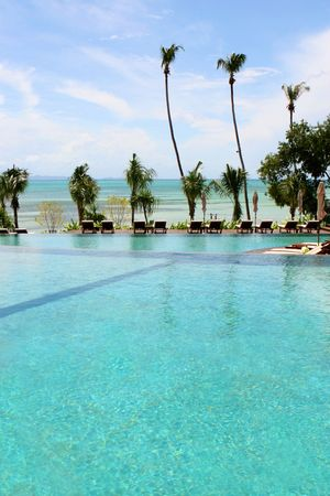 Luxury swimming pool at a tropical resort spa. Stock Photo - 5326172