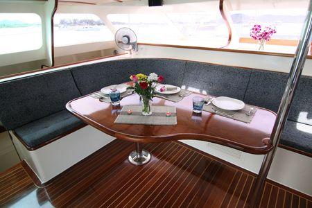yachts: Luxury yacht interior.
