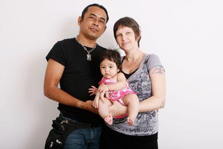 Portrait of a multi-ethnic family: ThaiAmerican. photo