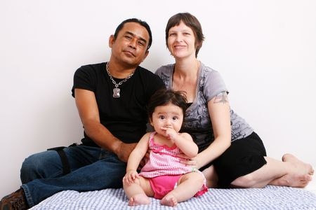 Portrait of a multi-ethnic family: ThaiAmerican. photo