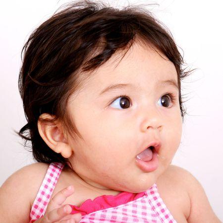 Portrait of a beautiful Thai baby. photo