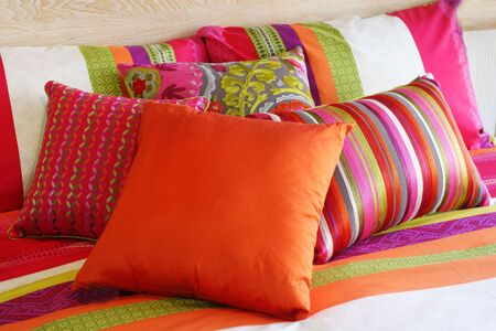 pillow: Bedroom in a modern house - home interiors.
