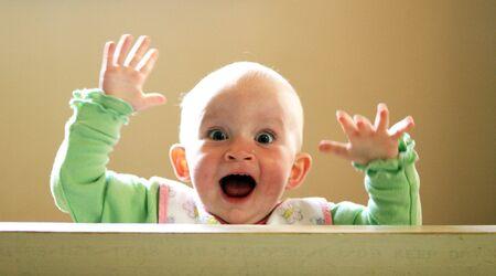 infancy: Cute baby portrait.