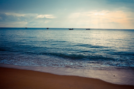 Scenic view of the beach in Khao Lak, Thailand - travel and tourism. photo