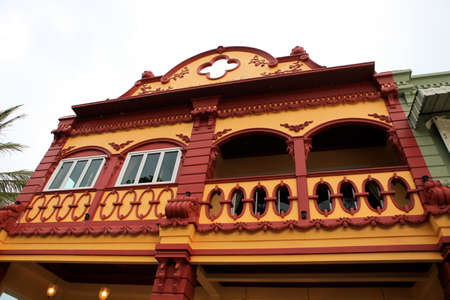 Exterior of a historical building in Khao Lak, Thailand - travel and tourism. photo