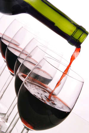 Red wine bottle and glasses Stock Photo - 2726176