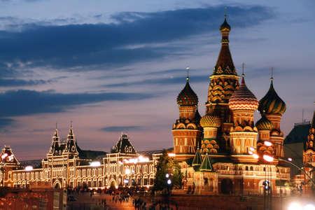 Rusia, Moscú, San Basilio Catedral, la Plaza Roja