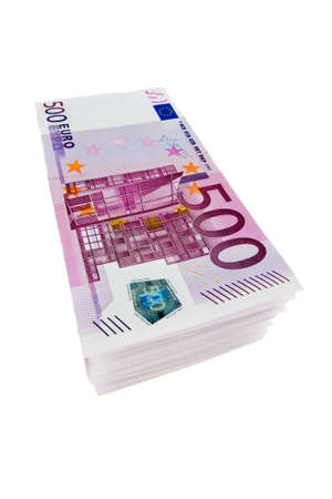 depreciation: 500 Euro Stock Photo