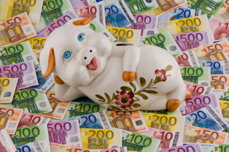 euromoney: European money and piggy bank