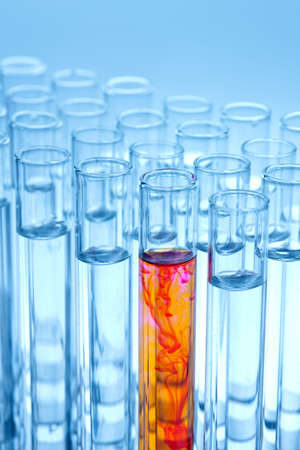 Test tubes in a laboratory experiment in chemistry Stock Photo - 4318898